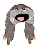 Yawning russian fur hat cartoon Royalty Free Stock Images