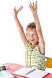 Yawning schoolboy Stock Image