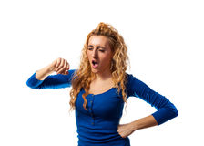 Yawning Woman Stock Photography