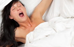 Yawning woman Royalty Free Stock Photo