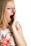 Yawning woman i Stock Images