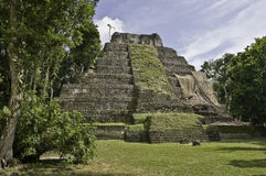 Yaxha - Maya Pyramide Stock Photography