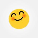 Yay smiling emoticon vector illustration Royalty Free Stock Photo