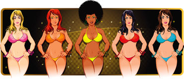 Yaya Bikini Girls Pack Stock Foto