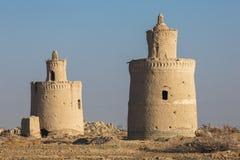 Εξωτερικό των παραδοσιακών σπιτιών περιστεριών στην επαρχία Yazd, Ιράν Στοκ Εικόνες