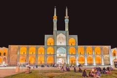 Yazd Amir Chakhmaq Complex bis zum Nacht Stockbild