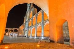Yazd Amir Chakhmaq Complex di notte Immagine Stock