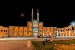 Yazd Amir Chakhmaq Complex by night Stock Photos