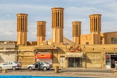Badgirs towers in Yazd Royalty Free Stock Photo