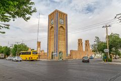 Clock tower in Yazd Stock Photography