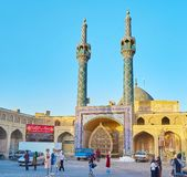 Central entrance to Shahzade Fazl Shrine stock photo