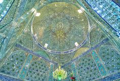 Beautiful cupola of Shahzade FazelHoly Shrine Royalty Free Stock Photos