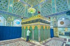 Inside Shahzade Fazel Holy Shrine Stock Photo