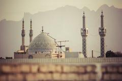 YAZD IRAN, PAŹDZIERNIK, - 07, 2016: Panorama Yazd Yazd jest nakrętką Fotografia Royalty Free