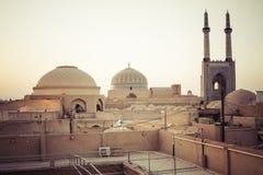 YAZD IRAN, PAŹDZIERNIK, - 07, 2016: Panorama Yazd Yazd jest nakrętką Obraz Royalty Free