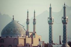 YAZD IRAN, PAŹDZIERNIK, - 07, 2016: Panorama Yazd Yazd jest nakrętką Zdjęcie Royalty Free