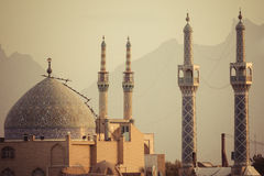 YAZD IRAN, PAŹDZIERNIK, - 07, 2016: Panorama Yazd Yazd jest nakrętką Obrazy Stock