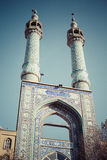 YAZD IRAN, PAŹDZIERNIK, - 07, 2016: Jame meczet Yazd w Iran _ Zdjęcia Stock