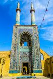 Yazd Jameh moské 08 fotografering för bildbyråer