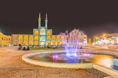 Yazd par nuit Photographie stock libre de droits