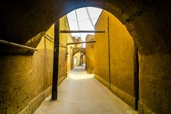 Yazd Roofed Alley 01 stock photography
