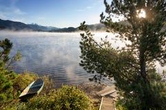 Yazevoe lake in Altai mountains, Kazakhstan Royalty Free Stock Photo
