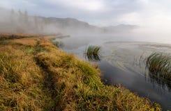 Yazevoe lake in Altai mountains, Kazakhstan Royalty Free Stock Images