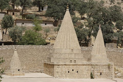 Yazidi temple in Lalish, Kurdistan. Yezidi temple in Lalish, a holy village situated in North Iraq (Iraqi Kurdistan Royalty Free Stock Images