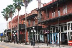 Ybor City, Tampa, Florida. Storefronts in historical Ybor City, in Tampa, Florida stock photography