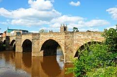 Ybrug en rivier, Hereford royalty-vrije stock afbeeldingen
