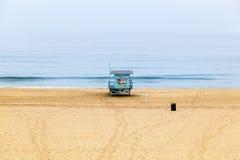 Życia Strażowy wierza przy Redondo plażą w Los Angeles Zdjęcie Royalty Free