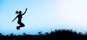 Życia trenowania sztandaru błękit zdjęcie royalty free