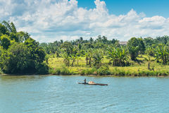 Życie codzienne na rzece, Madagascar, Afryka Wschodnia Zdjęcia Royalty Free