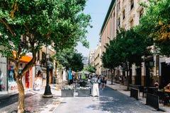 Życie Codzienne W Ruchliwie W centrum Walencja mieście Hiszpania Obrazy Royalty Free