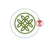 Życie I Śmierć konceptualny logo, unikalny wektorowy symbol Życie Flowe royalty ilustracja