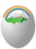 życie jajeczna skorupa Obrazy Royalty Free