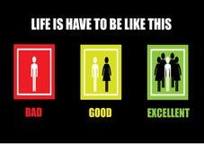 Życie jest musi być jak ten tło desing Obraz Stock