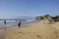 ŻYCIE NA KEHEI plaży Zdjęcia Royalty Free