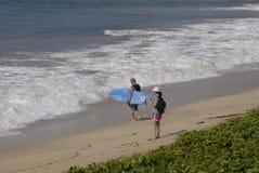 ŻYCIE NA MAKENA plaży Zdjęcia Royalty Free