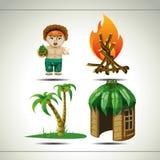 Życie na wyspie royalty ilustracja