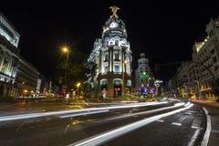 Życie nocne Madryt zdjęcia stock