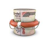 Życie pierścionku pieniądze rolki rupie ilustracja wektor
