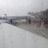 Życie podczas lota od Hawaii stały ląd Seattle usa Zdjęcia Stock