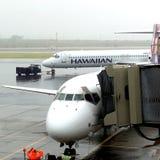 Życie podczas lota od Hawaii stały ląd Seattle usa Zdjęcia Royalty Free