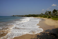 ŻYCIE PRZY MAKENA plażą Obrazy Royalty Free
