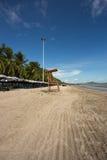 Życie strażnika krzesło przy Bangsaen plażą Zdjęcie Royalty Free