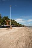 Życie strażnika krzesło przy Bangsaen plażą Zdjęcia Royalty Free