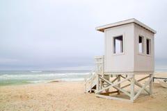 Życie strażnika stacja na plaży Fotografia Stock