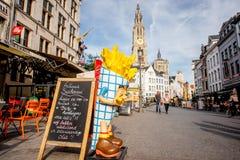 Życie w Antwerpen mieście Obraz Stock
