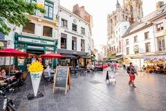 Życie w Antwerpen mieście Obrazy Royalty Free